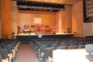 Theater Set up for Washington Week
